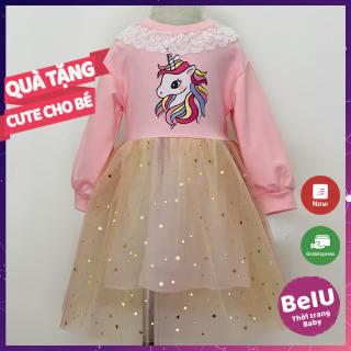 Váy bé gái, váy công chúa bé gái, đầm cho bé gái ngựa Pony BeIU021 váy trẻ em,  váy công chúa cho bé gái phong cách Hàn Quốc cực xinh cute và dễ thương diện Tết đầu xuân năm mới