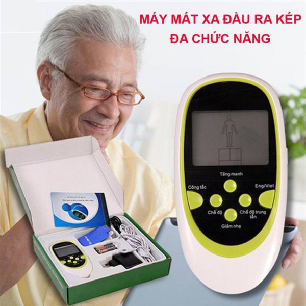 Máy massage bằng xung điện - Máy massage trị liệu 8 miếng dán, xoa bóp, châm cứu, bấm huyệt S103 - Bảo hành Uy Tín 1 đổi 1 cao cấp