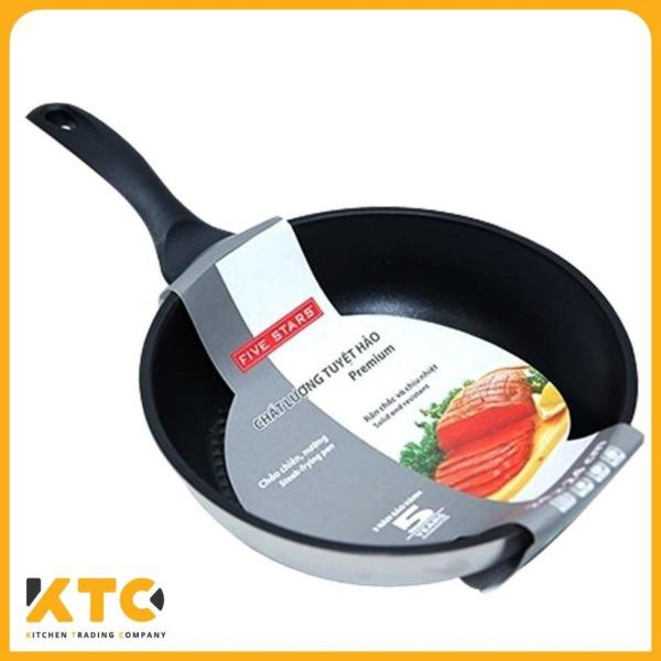Chảo chống dính 3 đáy inox 430 Fivestar Standard ( 16cm / 20cm/ 22cm/ 24cm/ 26cm/ 28cm)- bảo hành 5 năm - tương thích mọi bếp , bếp từ , bếp gas, bếp hồng ngoại