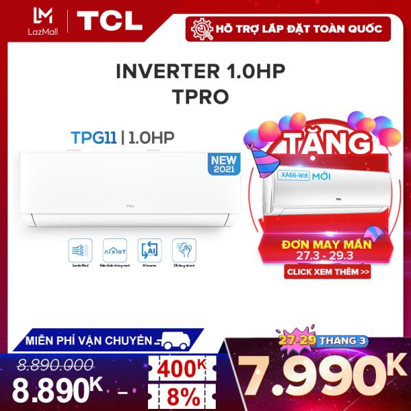 Máy lạnh TCL Inverter T-PRO 1 HP - 10.000 BTU TAC-10CSD/TPG11 (Trắng) - Công nghệ AI Inverter - Điều khiển thông minh - Hàng phân phối chính hãng