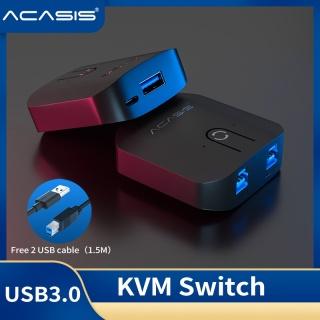 ACASIS USB HDMI KVM Switch 4K Ultra HD HDMI Switcher Box and USB KVM Splitter for Sharing Monitor Printer Keyboard Mouse thumbnail