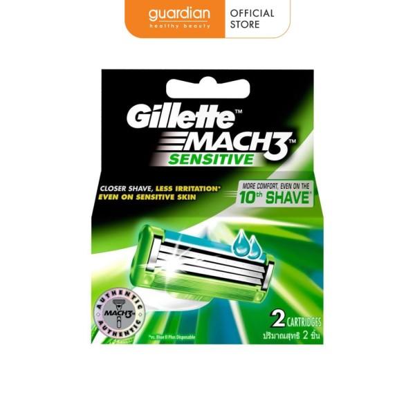 Lưỡi dao cạo râu dành cho da nhạy cảm Gillette Mach 3 (2 lưỡi/hộp)