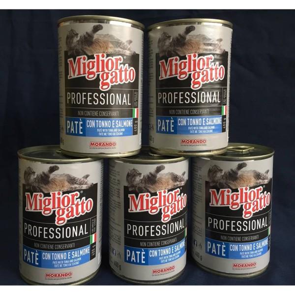 Combo 5 lon pate mèo Miglior Gatto 400g - cá ngừ cá hồi, cam kết hàng đúng mô tả, chất lượng đảm bảo an toàn đến sức khỏe người sử dụng, đa dạng mẫu mã, màu sắc, kích cỡ