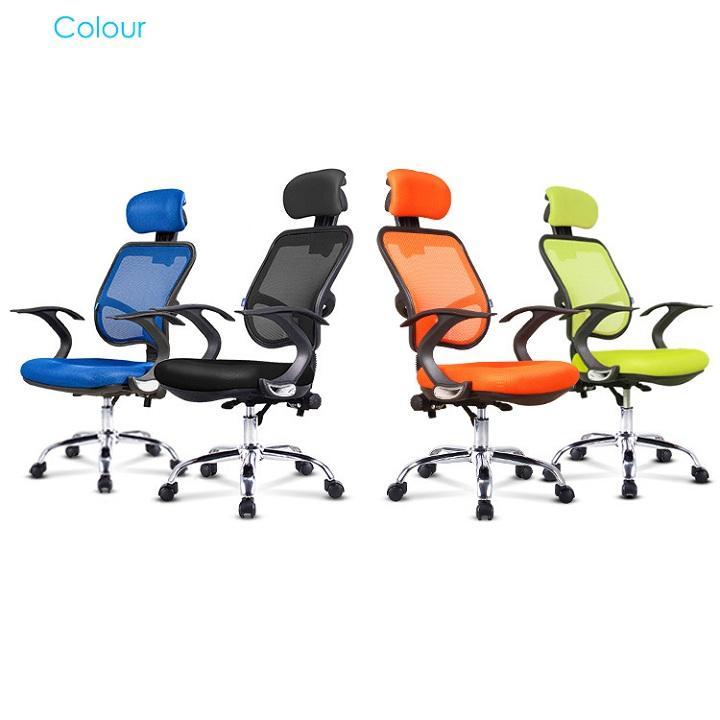 Ghế lưới văn phòng xoay 360 độ - Ghế giám đốc văn phòng, ghế làm việc có tay vin giá rẻ