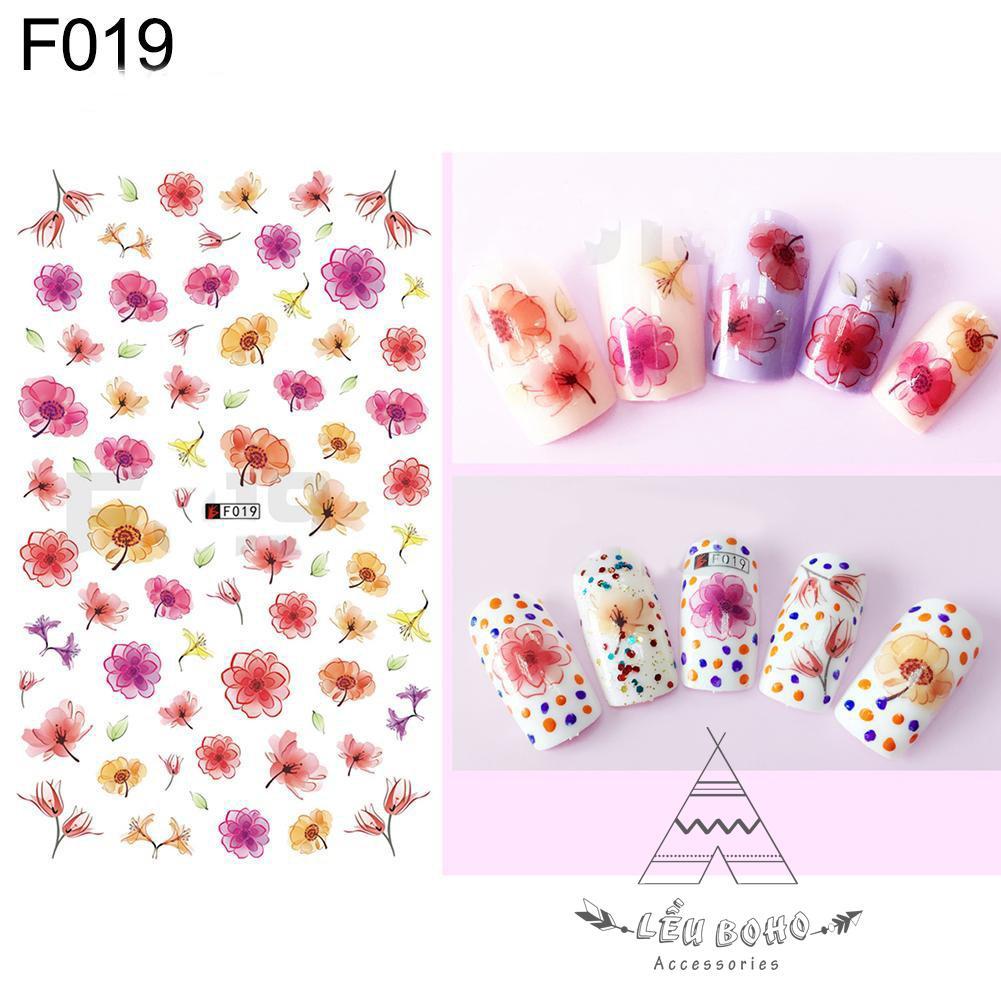 Miếng Dán Móng Tay 3D Nail Sticker Họa Tiết Hoa (3 mẫu) tốt nhất