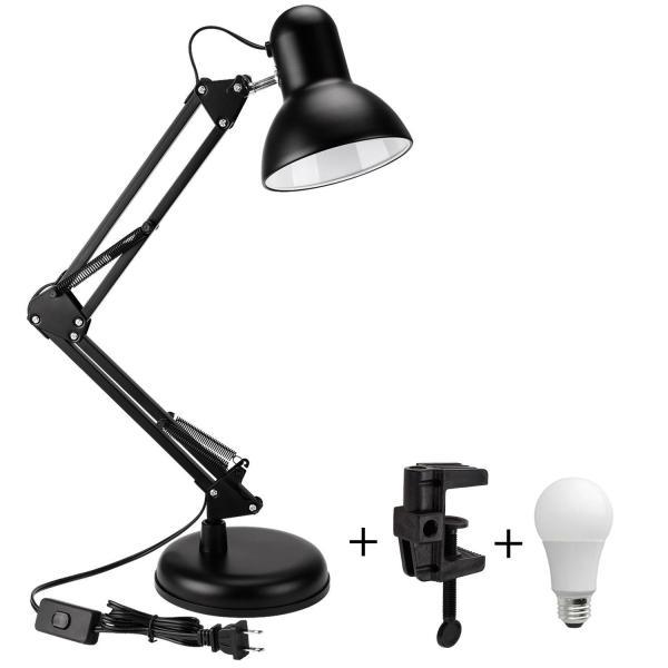 Đèn bàn đọc sách, làm việc có chấn đế, chân kẹp bàn Pixar MT811D + Tặng 1 bóng LED