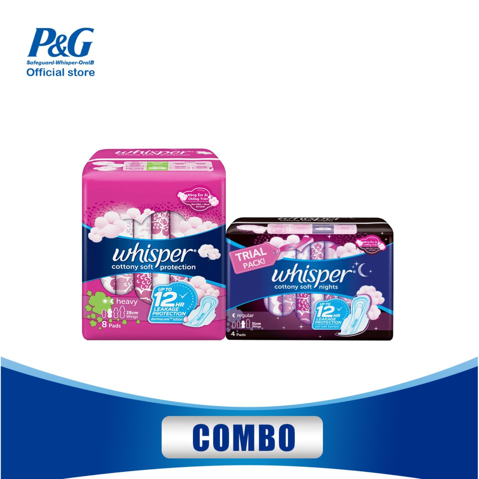 Combo Băng vệ sinh Whisper Cotton bao gồm: