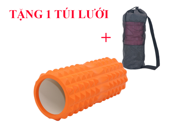 Bảng giá Foam Roller Con Lăn Massage, Dãn Cơ Tập Gym,Yoga TẶNG 1 TÚI LƯỚI