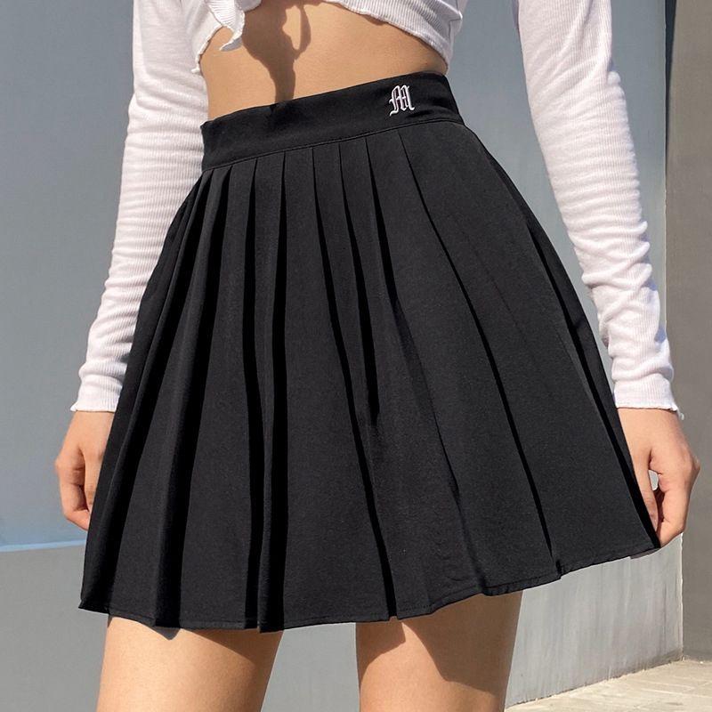 Giày Mini Xếp Ly Chân Váy Quần Short In Chữ Cao Cấp Váy Ngắn Hàn Quốc Cách Học Khiêu Vũ Bán giỏi nhấthjghgj