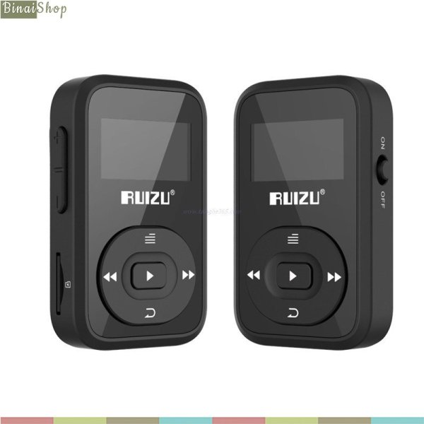 Ruizu X26 - Máy Nghe Nhạc Lossless Thể Thao, Hỗ Trợ Ghi Âm, FM, Bluetooth 4.0 (8GB)