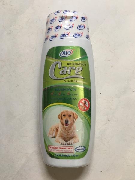Bio-Care, 150ml, Dầu tắm chó, mèo, tẩy sạch ve, rận, bọ chét, khử mùi hôi lông, giúp lông óng mượt trên chó mèo.