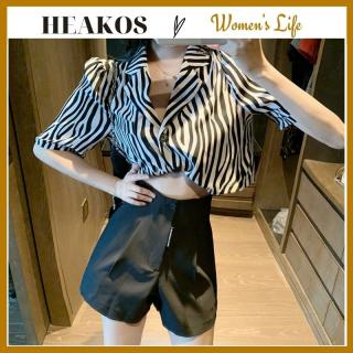 [HCM]Quần short nữ quần đùi nữ trắng ống rộng cạp cao thời trang lưng cao QD05 thumbnail