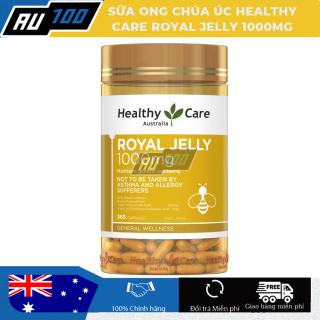 [FREESHIP] Sữa ong chúa Healthy Care 1000mg 365 viên - Hàng Úc [Tăng quá trình trao đổi chất nhờ đó cơ thể trẻ lâu, làn da mềm mại, tươi trẻ, xóa bỏ nếp nhăn, duy trì sắc đẹp] - AU100 thumbnail