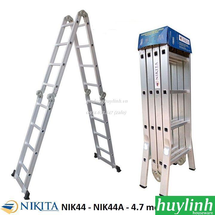 Thang nhôm gấp 4 đoạn 4 bậc Nikita NIK44 - 4.7 mét