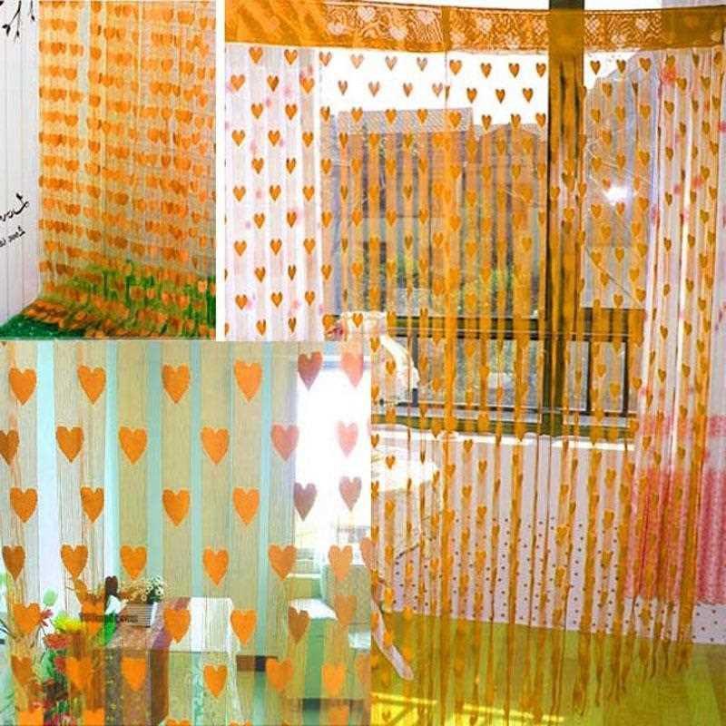 Rèm màn cửa trái tim treo cửa sổ cửa ra vào phòng ngủ, phòng khách văn phòng nhiều mẫu nhiều màu được chọn mẫu kích thước 1mx2m VVN1178