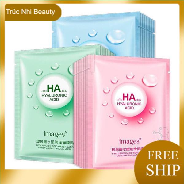 Mặt nạ giấy dưỡng ẩm cho da mụn Images. Mặt nạ HA IMAGES ,cấp nước giữ ẩm, mặt nạ giấy, Truc nhi Beauty cao cấp