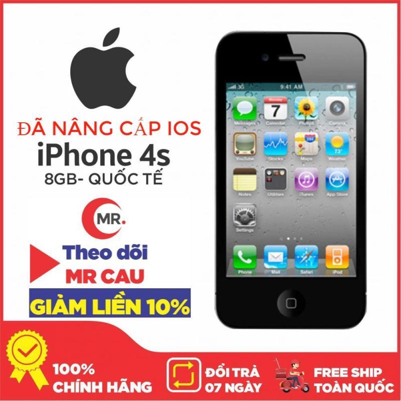 Điện thoại Apple iPhone 4s - 8 GB - Bản QUỐC TẾ  MÁY ĐẸP FULL CHỨC  NĂNG Nghe Gọi Thao tác cảm ứng lên mạng giải trí Chip A4 Ram 512 MB phù hợp cho sinh viên người lớn  , tặng dây sạc máy đẹp 95  97%- Yên tâm mua sắm với Mr Cầu