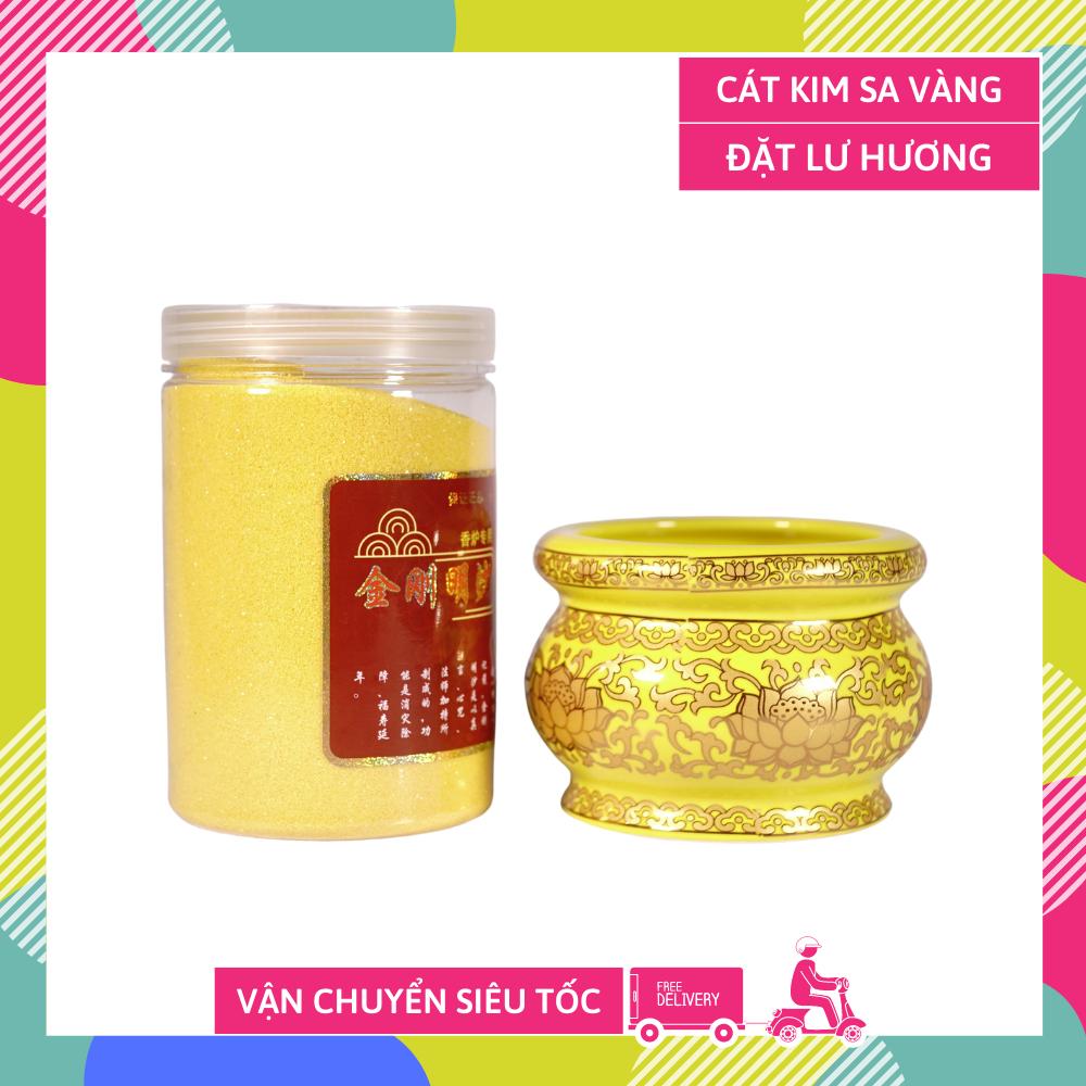 Cát kim sa đặt lư hương cát vàng tro đặt lư hương thờ cúng - 05kg và 1kg