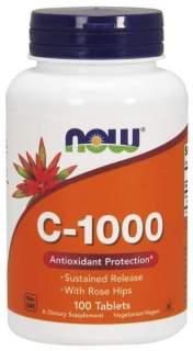 Thực Phẩm Bảo Vệ Sức Khỏe NOW Vitamin C-1000 Sustained Release - Bổ Sung Vitamin C Chiết Xuất Từ Nụ Tầm Xuân Giúp Chống Lão Hóa Tế Bào & Tăng Hệ Miễn Dịch Chai 100 Viên thumbnail