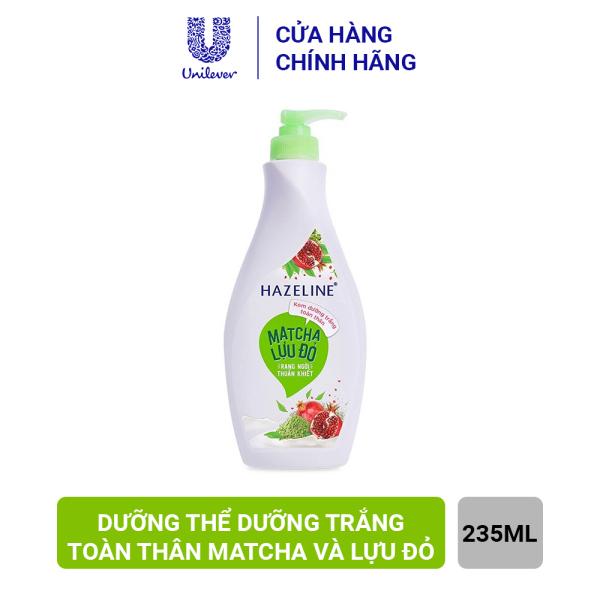 Sữa Dưỡng Thể Trắng Da Hazeline Matcha Lựu Đỏ (370ml) nhập khẩu