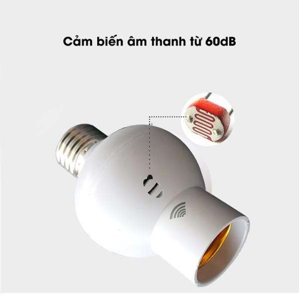 [LOẠI A] Đui đèn E27- Đui đèn cảm biến âm thanh trong bóng tối, Đui đèn cảm biến âm thanh tự động sáng trong tối thông minh cảnh báo trộm khi tự sáng