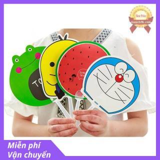 Combo 4 Quạt nhựa cầm tay cute dễ thương hình thú hoa quả Quạt tròn cầm tay BTS thumbnail