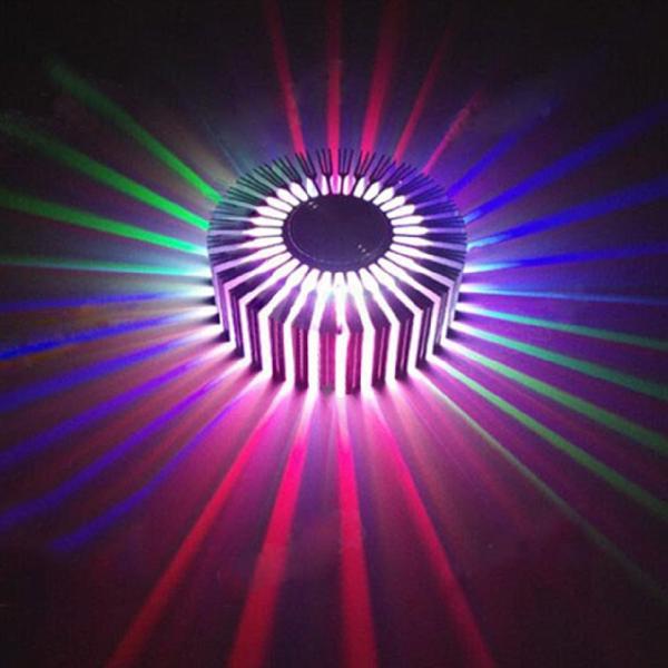 Led đèn tường hiện đại súc tích sáng tạo năng lượng mặt trời nhôm đèn phòng ngủ đèn pha nhúng trần 3W BuEogfN7