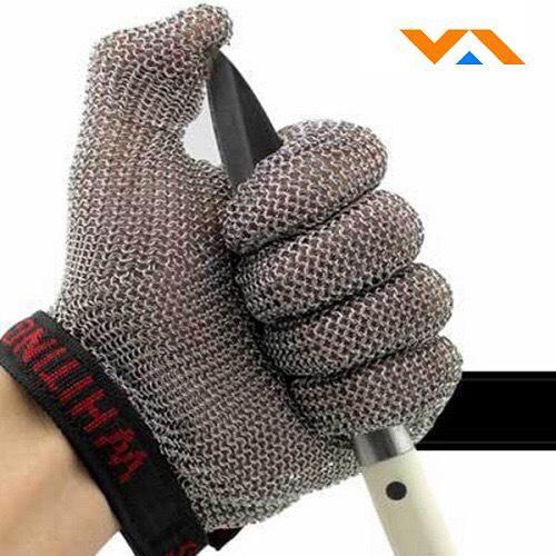 Găng tay bảo hộ bằng sợi sắt - Chống cắt cấp độ cao - Nhập khẩu Pháp