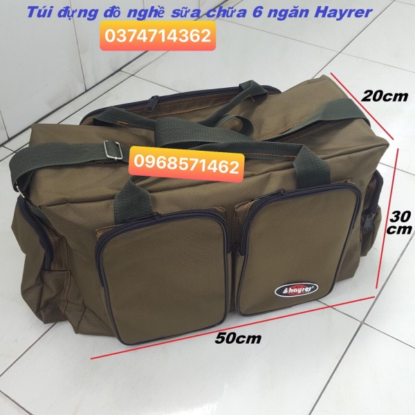 Túi đồ nghề 6 ngăn Hayrer size đại siêu bền
