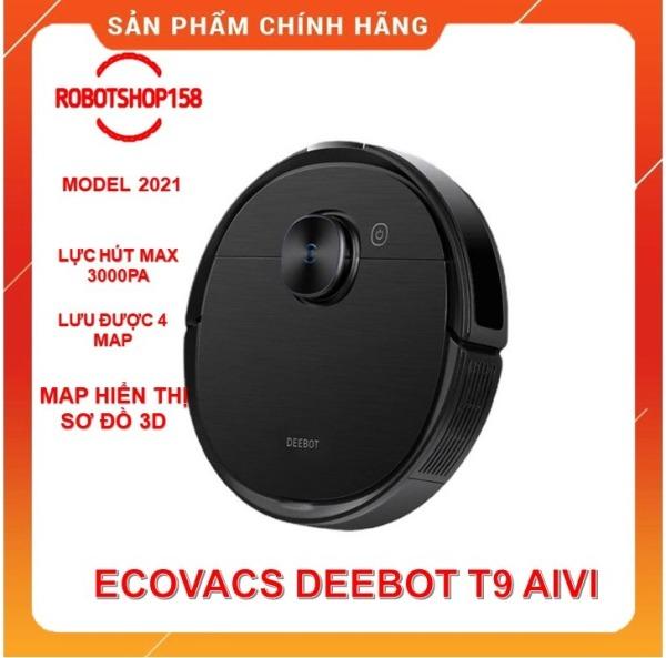 [Trả góp 0%]Robot Hút Bụi Lai Nhà Ecovacs Deboot T9 Aivi- Lực Hút Max 3000Pa- Hàng Mới Nguyên Seal 100%-Tặng App Ecovacs Home