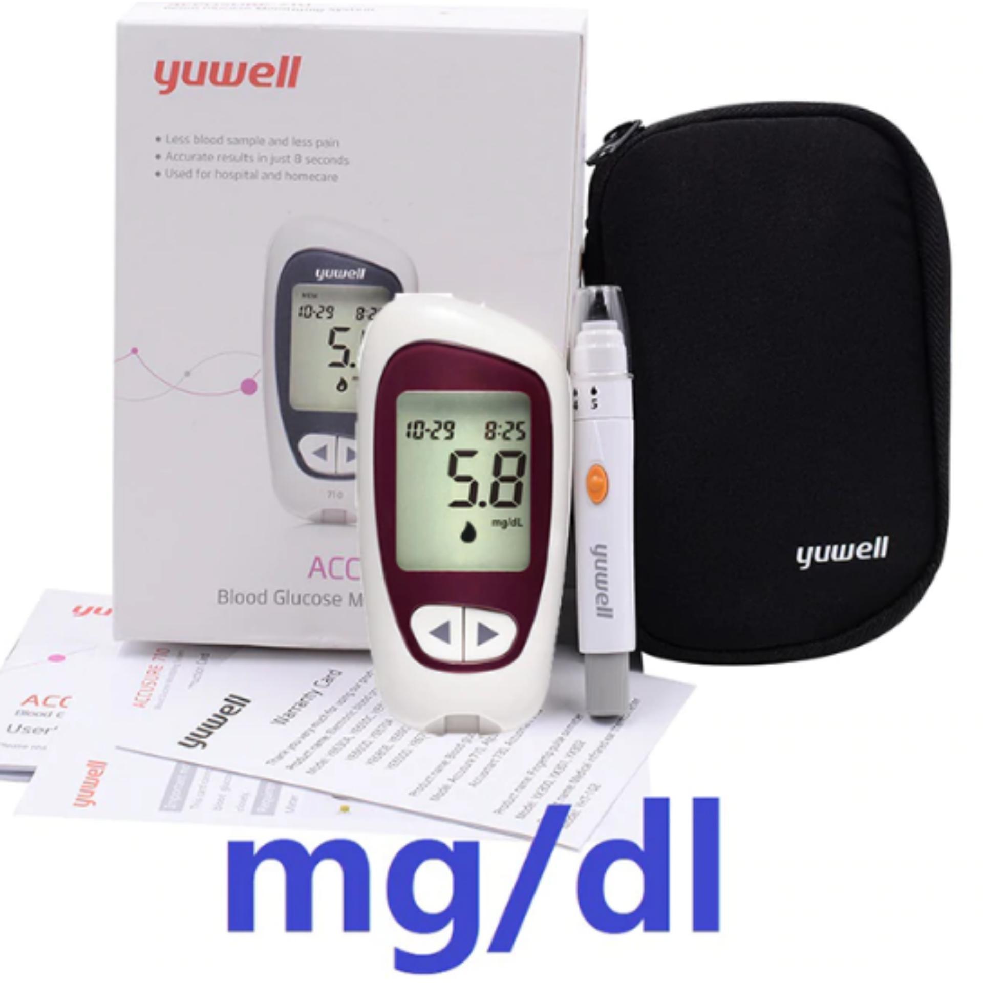 Máy đo đường huyết phổ biến nhất hiện nay Yuwell 710 bán chạy