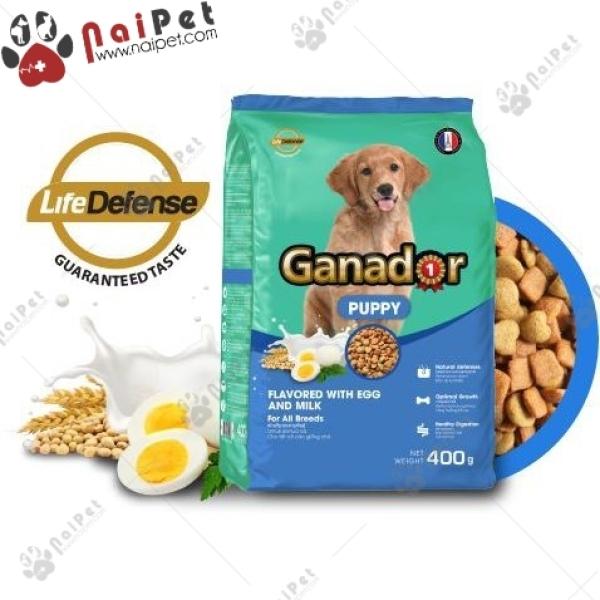 Thức Ăn Hạt Cho Chó Con Mọi Giống Chó Vị Trứng Và Sữa Ganador Puppy 3kg