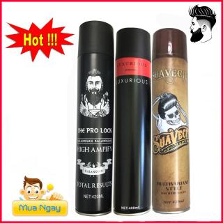 COMBO 3 GôM XỊT TÓC GIỮ NẾP TÓC CỨNG SUAVECITO 420ML sáp vuốt tóc wax vuốt tóc keo vuốt tóc sap TOC thumbnail