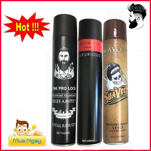COMBO 3 GôM XỊT TÓC GIỮ NẾP TÓC CỨNG SUAVECITO 420ML/ sáp vuốt tóc/ wax vuốt tóc/ keo vuốt tóc/ sap TOC
