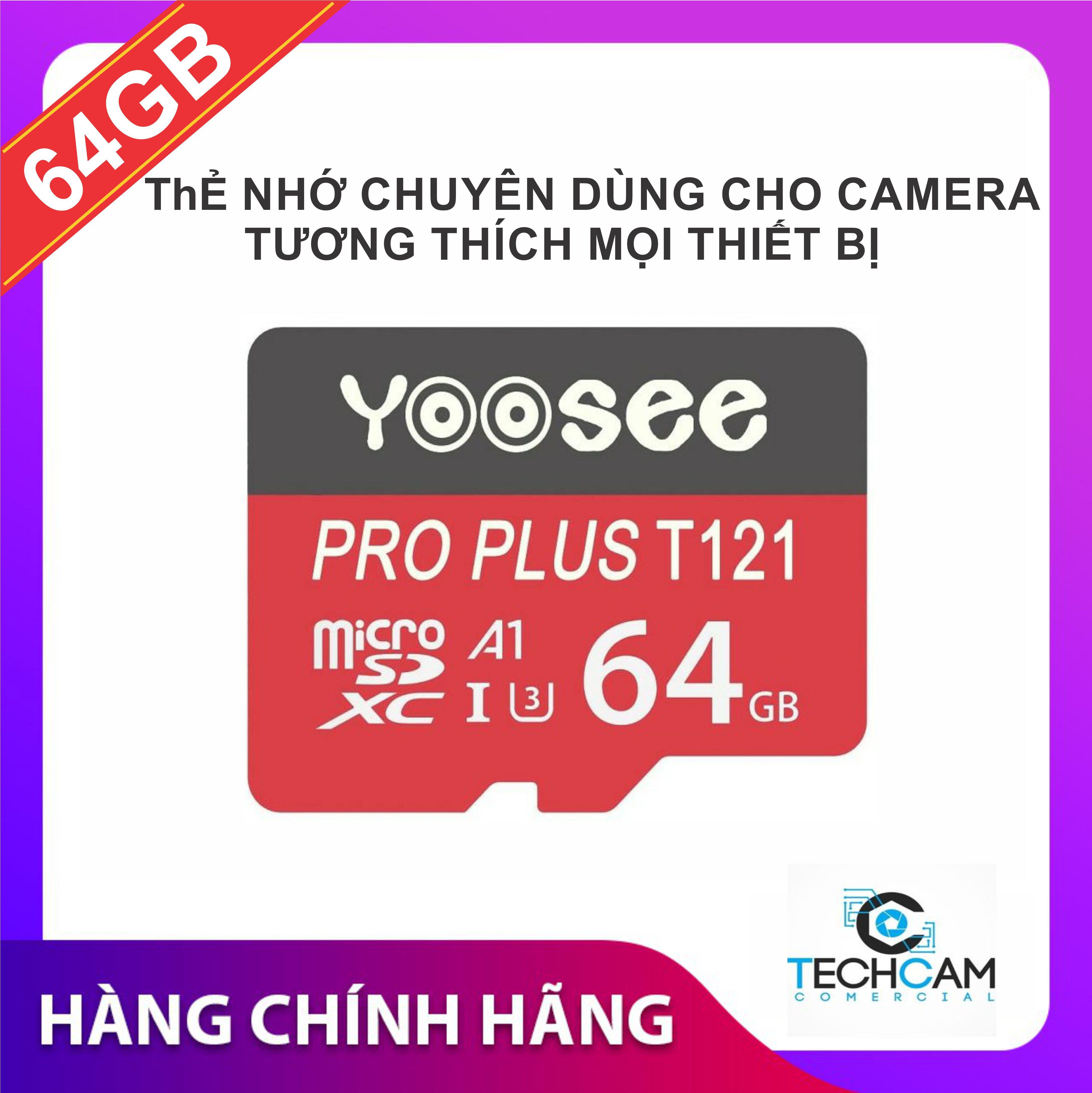 Giá Thẻ nhớ Yoosee 64GB tốc độ cao, bảo hàng 12 tháng - thẻ đỏ