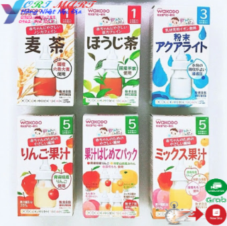 Trà wakodo Nhật Bản cho bé vị lúa mạch, điện giải, hoa quả ( date 2022) thumbnail