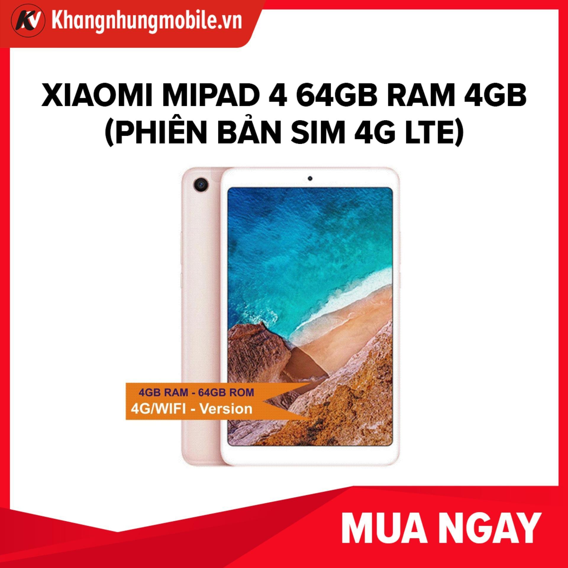 Mã Giảm Giá tại Lazada cho Xiaomi Mipad 4, Mi Pad4, Mi Pad 4 64GB Ram 4GB (Phiên Bản Sim 4G LTE) Khang Nhung - Hàng Nhập Khẩu
