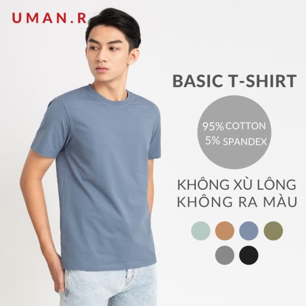 Áo thun nam tay ngắn cổ tròn TS01 UMAN.R áo phông trơn cơ bản chất liệu cotton thấm hút form regular thời trang (7màu)