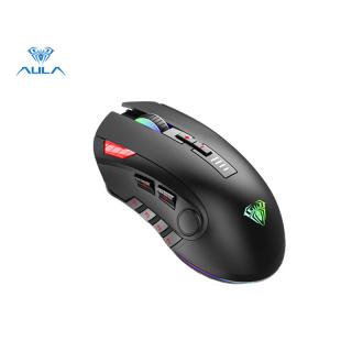 Chuột chơi game AULA store H512 6 nút bên có thể lập trình, đèn báo màu, hệ thống trọng lượng điều chỉnh 6DPI, thích hợp cho máy tính xách tay thumbnail