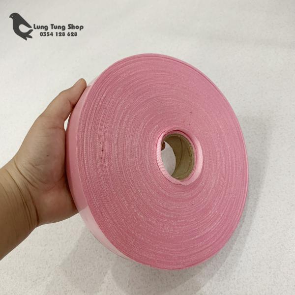 [HCM]Cuộn dây vải may viền cắt sẵn màu hồng ( cuộn 100 mét )