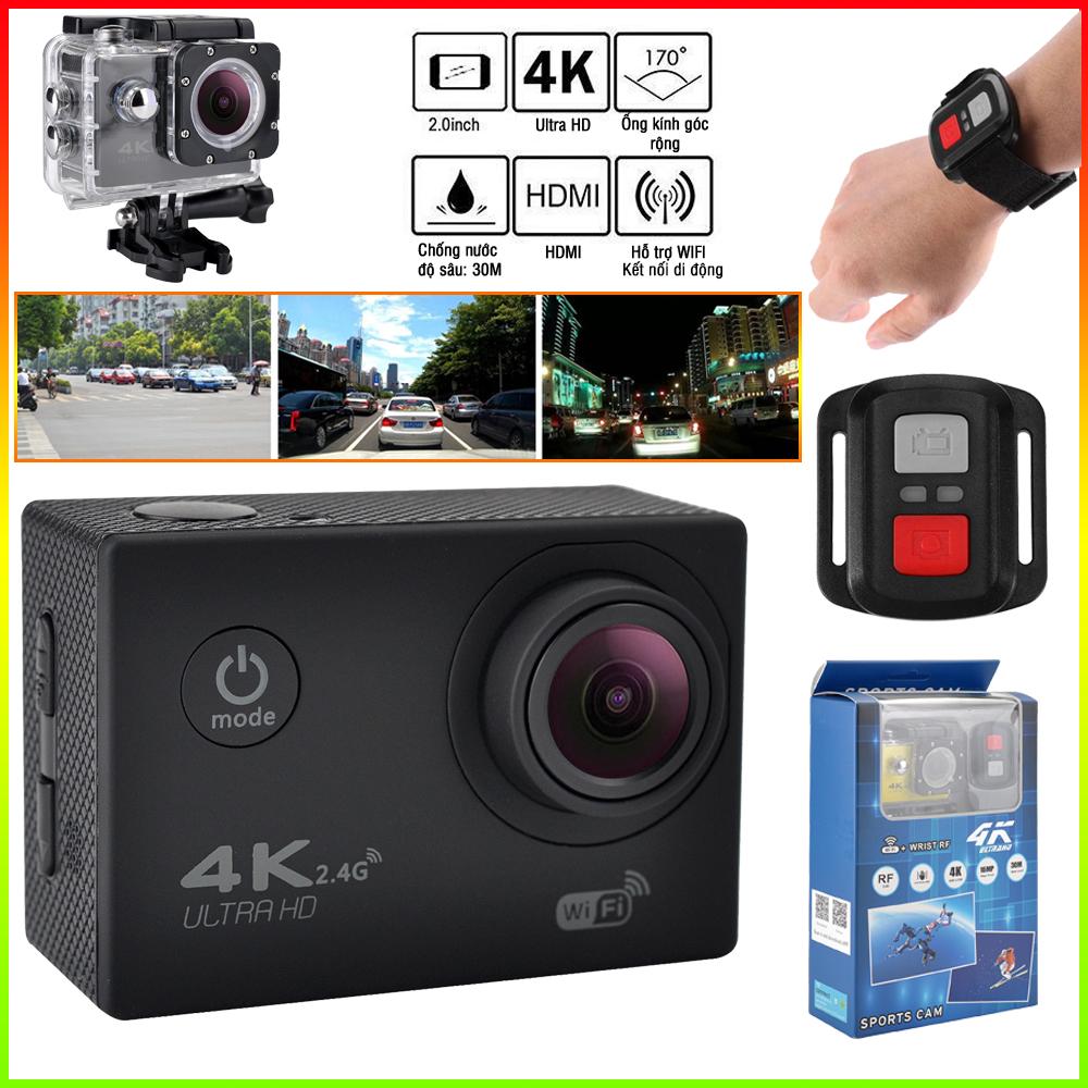 Camera hành trình Sport 4K UltraHD - Hỗ trợ kết nối WIFI, có thể điều khiển Camera qua ứng dụng XDV chống nước, chống rung. phù hợp cho việc ghi lại các cảnh quay khi đang lưu thông. Camera hành trình ô tô, xe máy