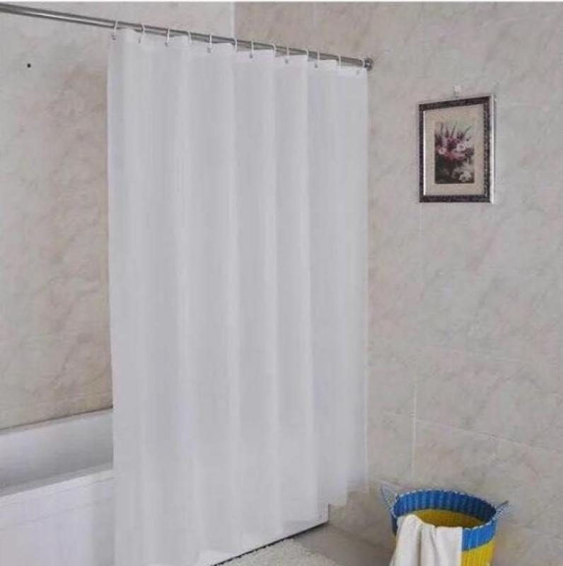 Rèm Phòng Tắm / Rèm Cửa Sổ Trắng Trơn 180cm X 180cm Loại 1