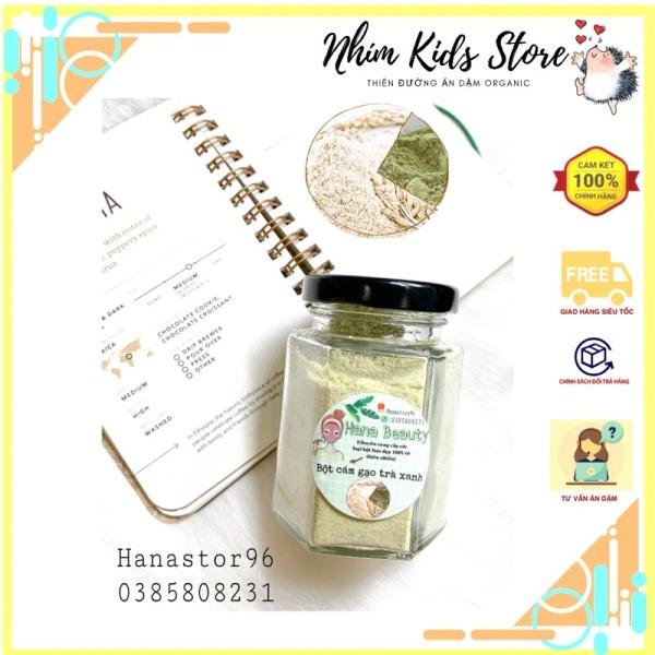 [Làm đẹp] Bột cám gạo trà xanh thiên nhiên nguyên chất đắp nạ, ủ body dưỡng da giá rẻ
