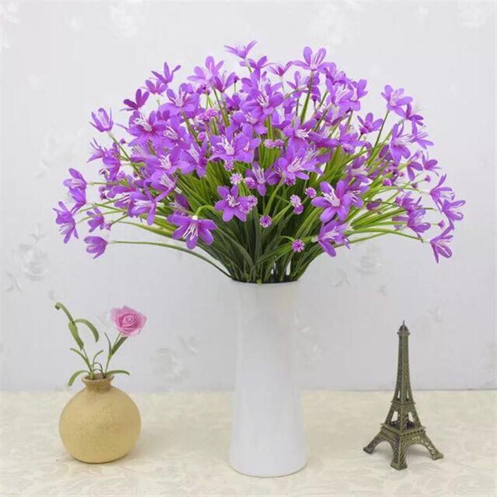 Hoa giả - cành hoa thủy tiên lụa (24-28 bông hoa) trang trí nhà cửa, văn phòng, cơ quan, phim trường chụp ảnh