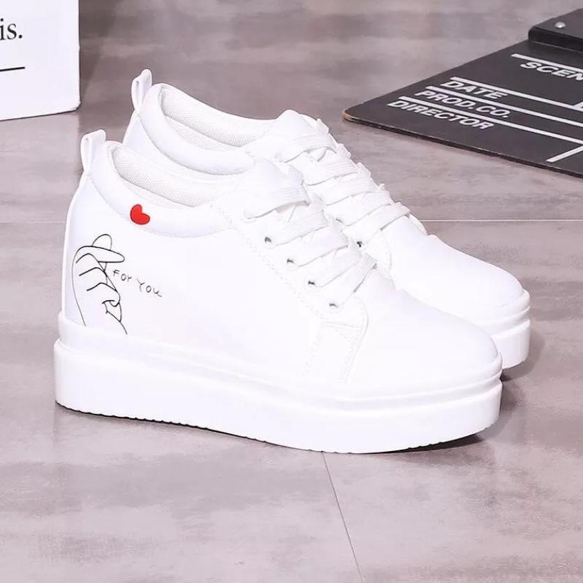 [BEST SELLER] Giày bata nữ độn đế bắn tim Hàn Quốc TN68 giá rẻ