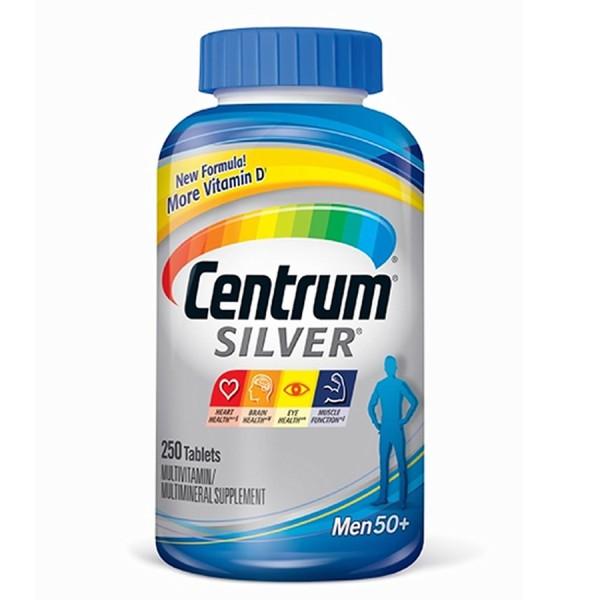 Thực phẩm bổ sung : CENTRUM SILVER MEN 50+ 275 viên của Mỹ giúp bổ sung Vitamin và khoáng chất