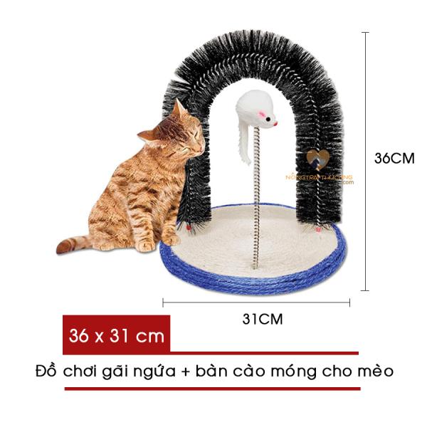 Đồ Chơi Gãi Ngứa Kèm Bàn Cào Móng Cho Mèo - [Nông Trại Thú Cưng]