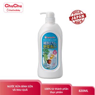 Nước Rửa Bình Sữa Núm Vú Và Rau Củ Qủa Chuchu Baby 820ML thumbnail