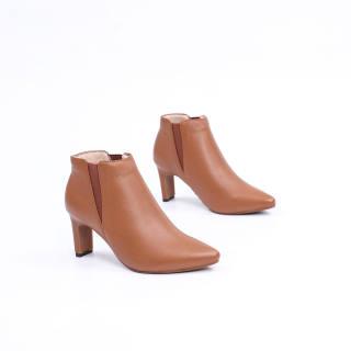 Boot Da Thật Cao Gót 7cm Bản Thun Pixie X617