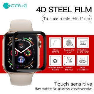 [Nhập ELJAN22 giảm 10% tối đa 200k đơn từ 99k]Miếng Dán Cường Lực COTEetCI 4D Bảo Vệ Màn Hình Apple Watch Series 5 4 3 2 1 Chống Va Đập Trầy Sước thumbnail